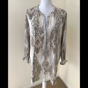 Chico's size 3, sequined  long sleeve tunic